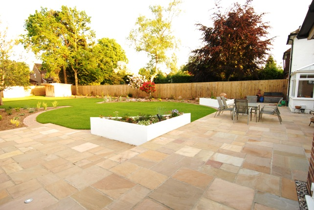 Free Garden Design Marshalls : Finchampstead modern formal garden dream gardens