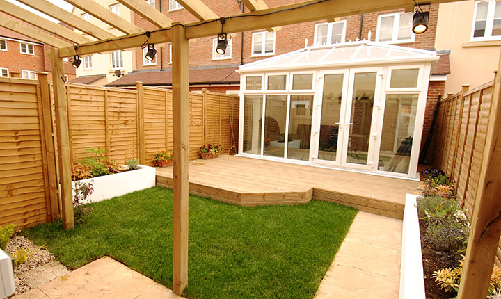 small decked garden ideas what an awesome idea backyard decking shamrock landscaping and design landscaping narre