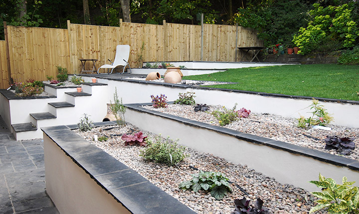 Henley on thames terraced garden dream gardens for Terrace garden images