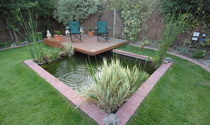 Wokingham Pond Decking Dream Gardens