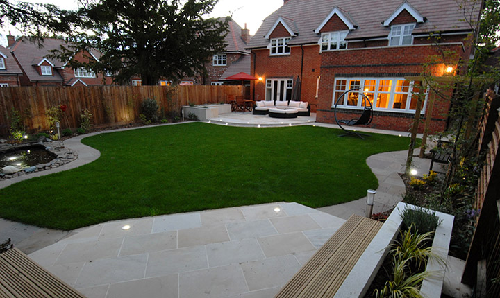 Early, Modern Patio - Dream Gardens on Modern Back Garden Ideas id=22539